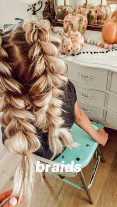 Messy Braids, Pigtail Braids, Long Braids, Braided Ponytail, Teen Girl Hairstyles, Braided Hairstyles, Hair Doo, Hairstyle Ideas, Bob Hairstyle