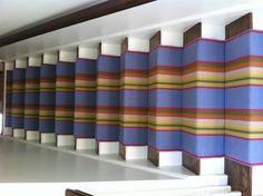 Dash & Albert's Cotton runner, Nantucket, on a client's staircase