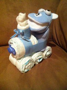 Diaper Train  Blue by ThePayneShack on Etsy, $12.00