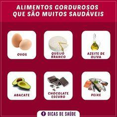 Alimentos gordurosos que são muitos saudáveis!