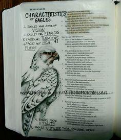 Isaiah 40:28-31. #journalingbibleart #scriptureart #faithart