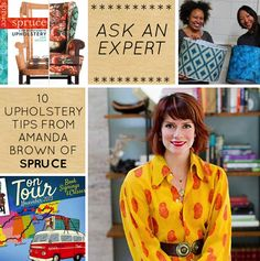 Ask an Expert! Today upholstery guru Amanda Brown of Spruce shares her 10 Tips for Home Upholstery #upholstery #diy #expert #advice #sewing #spruce