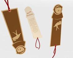 Santo Antônio de papel em scrapbook My Bookmarks, Origami, Portugal, Holiday Decor, Pace, Cards, Scrapbooking, Marque Page, Bookmarks