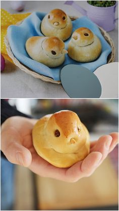 Chicks for the Easter breakfast table There is a recipe for the brioche pies pies recipes dekorieren rezepte Easy Cake Recipes, Brunch Recipes, Dessert Recipes, Brunch Ideas, Baking Recipes, Easter Dinner, Easter Brunch, Easter Table, Easter Eggs