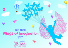 Imagination has no ending, let it grow. #Imagination  #childscreation #creativity #talesandstories #kidswear