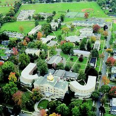 Aerial view of Centenary College.