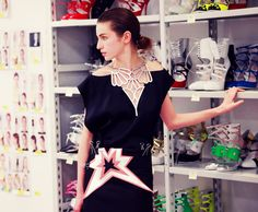 love this miu miu dress. the neckline is beyond awesome.