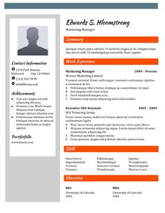 461 Best Resume Templates and Samples images | Simple cv template ...