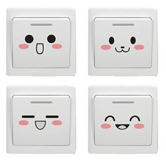 Creative Resin Switch Stickers Wall Decor Switch Cover Socket Electrical Fitting