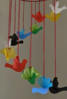 Waldorf Rainbow Bird Mobile