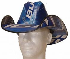 Bud Light Cowboy Hat made from Recycled Beer Boxes Budlig... https://www.amazon.com/dp/B01KS0X4BS/ref=cm_sw_r_pi_dp_x_QNU-xbRD0R5NG