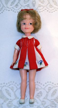 VINTAGE PENNY BRITE DOLL. A neighbor behind us made homemade clothes for my doll and for her daughter's Penny Brite Doll