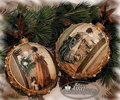 Hand made Christmas ornaments - paper Asket Design collection