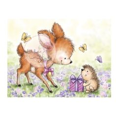 Bluebell with Hedgehog