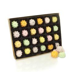24 English Crystallised Fondant Creams Gift Box Assortment Lemon Lime Violet