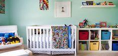 Habitación para bebés inspirada en superhéroes - http://www.decoora.com/habitacion-para-bebes-inspirada-en-superheroes.html
