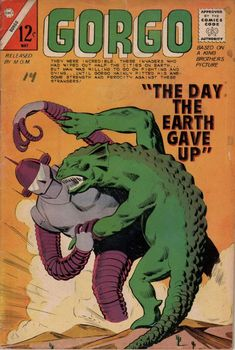 Gorgo (Charlton) - Comic Book Plus Sci Fi Comics, Old Comics, Horror Comics, Vintage Comics, Silver Age Comics, Ghibli, Caricature, Comic Book Covers, Comic Books