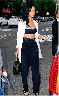 Très classe Rihanna...