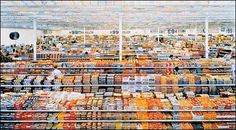 """Andreas Gursky 99 Cent II 2001 (diptych)  Consuming Passions article - Tate Liverpool in conjunction with 2003 show """"Shopping - a century of art and consumer culture"""""""