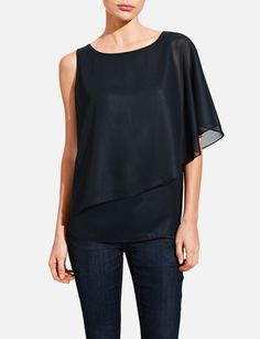 Chiffon-Overlay Angel Top from THELIMITED.com