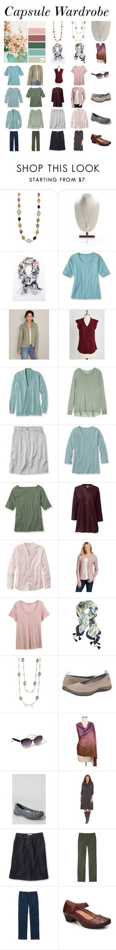 """""""Capsule Wardrobe - plus size"""" by mary-wg on Polyvore featuring Eddie Bauer, Myrtlewood, H&M, L.L.Bean, Lands' End, Chico's, Rockport, Old Navy, NOVICA and women's clothing"""