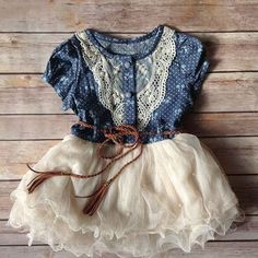 Vintage rustic style dress
