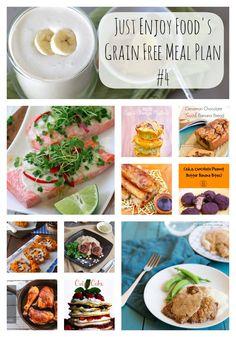 Just Enjoy Grain Free Meal Plan Week #4. Paleo, Primal, GAPS diet approved recipes. 24 recipes in total!