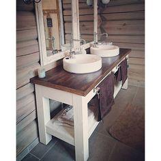 Photo from Plans are from Ana White – bathroom vanity. Photo from Plans are from Ana White – bathroom vanity. Bathroom Vanity Designs, Rustic Bathroom Designs, Rustic Bathroom Vanities, White Vanity Bathroom, Rustic Bathrooms, Simple Bathroom, Bathroom Interior, Modern Bathroom, Bathroom Ideas