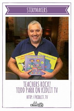 StoryMakers interview with author Todd Parr sharing about his new book Teachers Rock, just in time for teacher appreciation day.