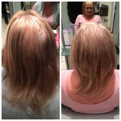 Half head of highlights with a layered cut and a volumed blowdry to finish