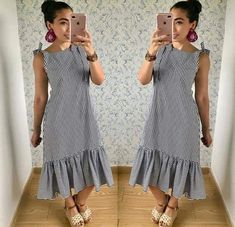Day Dresses, Casual Dresses, Fashion Dresses, Simple Outfits, Chic Outfits, Lazy Halloween Costumes, Frocks, Kurti, Short Sleeve Dresses