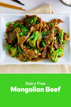 How about some Mongolian Beef? This healthy and homemade beef recipes easy lunch with steaks and scallions is too good! Steak And Broccoli, Beef Flank Steak, Best Lunch Recipes, Mongolian Beef Recipes, Steaks, Lunches And Dinners, Dairy Free, Delish, Easy Meals