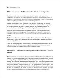 Literature Review Example Of An Introduction  Literature Reviews