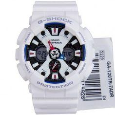 GA-120TR-7A GA120TR Casio G-Shock Tricolor G-Shock WR200m Quartz Sports Watch