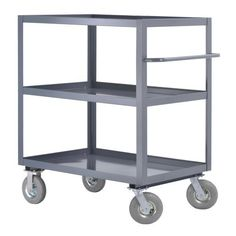 "Edsal WIT730 Steel Heavy Duty All Purpose Truck, 1200 lbs Capacity, 36"" Width x 55"" Height x 24"" Depth, 3 Shelves, Industrial Gray by Edsal. $517.38. Edsal 3 shelf truck all purpose heavy-duty welded trucks with 1200 pound capacity. Designed for rugged use in shops, workrooms, stockrooms, shipping and receiving departments. Prime quality heavy gauge steel. Electrically arc-welded to form one strong integral unit. Smooth finish with no rough edges. 8-inches pneumatic casters 2 ..."