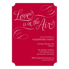 Valentine Penguin Invitation  Party Invitations