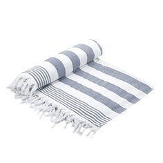 """Cottonna 100% Luxury Turkish Cotton Oversized Beach Blanket, 80"""" by 80"""", Peshtemal Front with Terry Loop Back, Fouta Blanket, Throw, Peshterry Beach Towel Queen Size. For product & price info go to:  https://all4hiking.com/products/cottonna-100-luxury-turkish-cotton-oversized-beach-blanket-80-by-80-peshtemal-front-with-terry-loop-back-fouta-blanket-throw-peshterry-beach-towel-queen-size/"""