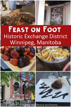 Feast on Foot in Winnipeg's Exchange District - sampling restaurants in a historic area of Winnipeg, Manitoba, Canada Backpacking Canada, A Food, Food And Drink, Canada Holiday, Canadian Travel, Best Places To Eat, World Recipes, Restaurant Recipes, Food Presentation