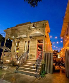 Bouligny Tavern, a wine bar with premium cocktails, fine dining quality small plates and table service -- from the exterior, Bouligny Tavern appears to be a traditional, century-old establishment, but is in reality fairly new but has been extremely well received by locals. #NewOrleans #MagazineStreet #NOLA by janine
