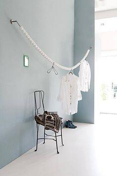 holzperlen garderobe