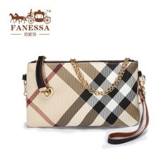 Genuine leather and PU 2014 new European plaid women's day clutch small handbag lady shoulder bag quality check chain bags