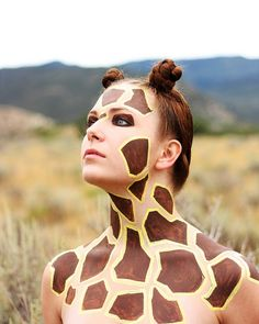 Giraffe hair and makeup - from the My Face is My Canvas pool on Flickr