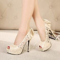 Sweet Bowknot and Flower Embroidery Design Peep Toed Shoes For Women