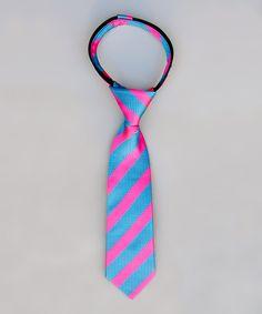 Love this Blue & Raspberry Stripe Tie - Kids & Men on #zulily! #zulilyfinds