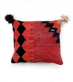 Geometric Tribal Pillow Persian Kilim Cushion Turkish Home