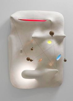 "Isamu Noguchi, ""Lunar Landscape,"" 1943-44.  A landscape sculpture drawn from the imagination of the artist after several months in a Japanese-American internment camp, isolated in the desert during WWII. Using landscape as a metaphor for an emotional or psychological state of mind was one of Surrealism's most important contributions to modern art."