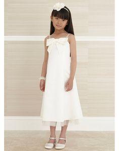 3ceb0649686c Due Spallini Fiocco A Line Abito Da Cerimonia Bambina Corto in Ventita  Online Nice Dresses