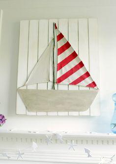 Sail boat art DIY
