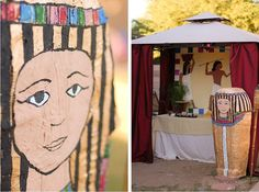 Nicole from Tradewinds & Tiaras sent us this Egyptology/Archaeology themed birthday party she created for her daughter's 8th birthday. The party was set in 1911, at the excavation of the tomb of Senusret II, the second king of the 12th dynasty of Egypt. Invitations resembled leather-bound archaeological field notebooks.The scene was set with a life-sized …