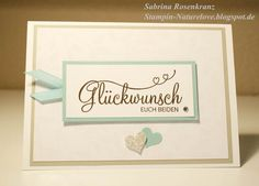 Hochzeitskarte Stampinup Glückwunsch euch beiden von naturelove auf DaWanda.com